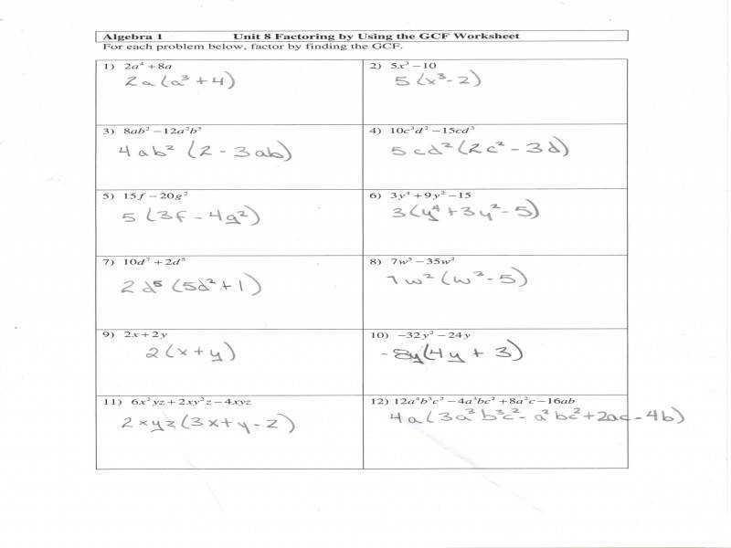 Algebra Worksheets Secondary 1 3