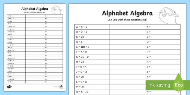 Algebra Worksheets University 6