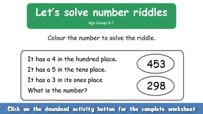 Math Riddles Worksheets Free