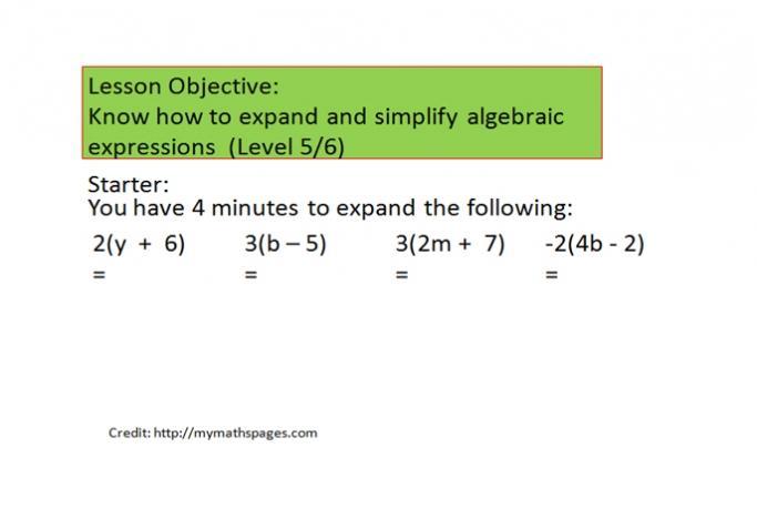 Simplifying Algebra Worksheets Ks3