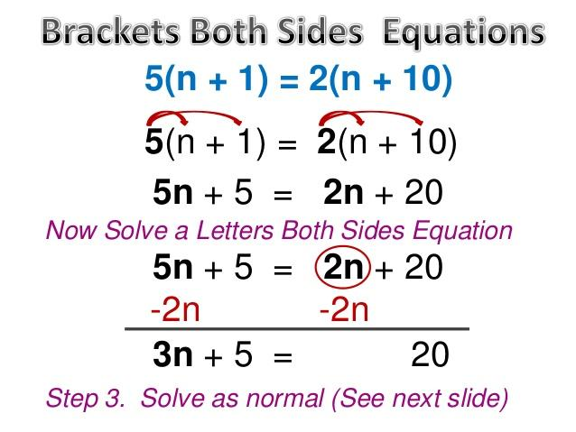 Solving Equations With Variables On Both Sides Worksheet Math Aids