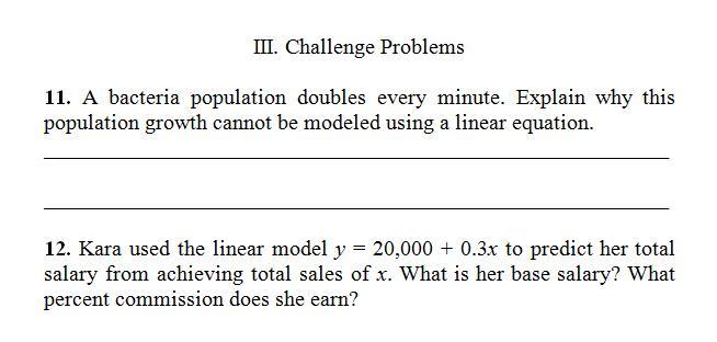 Algebra Word Problems Addition Worksheet