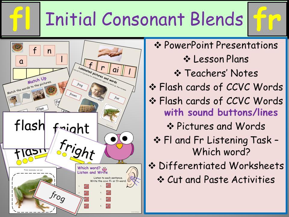1st Grade Blending Sounds Worksheets
