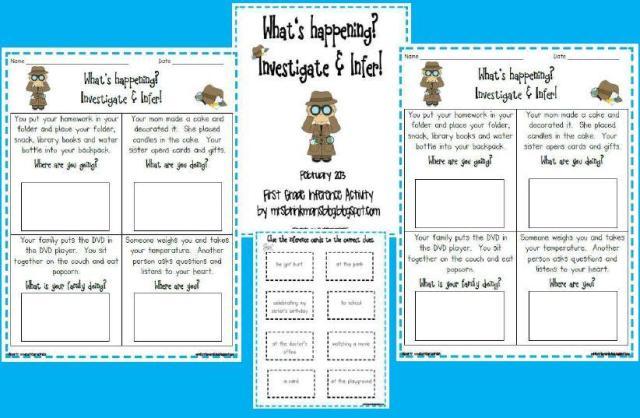 1st Grade Inference Worksheets