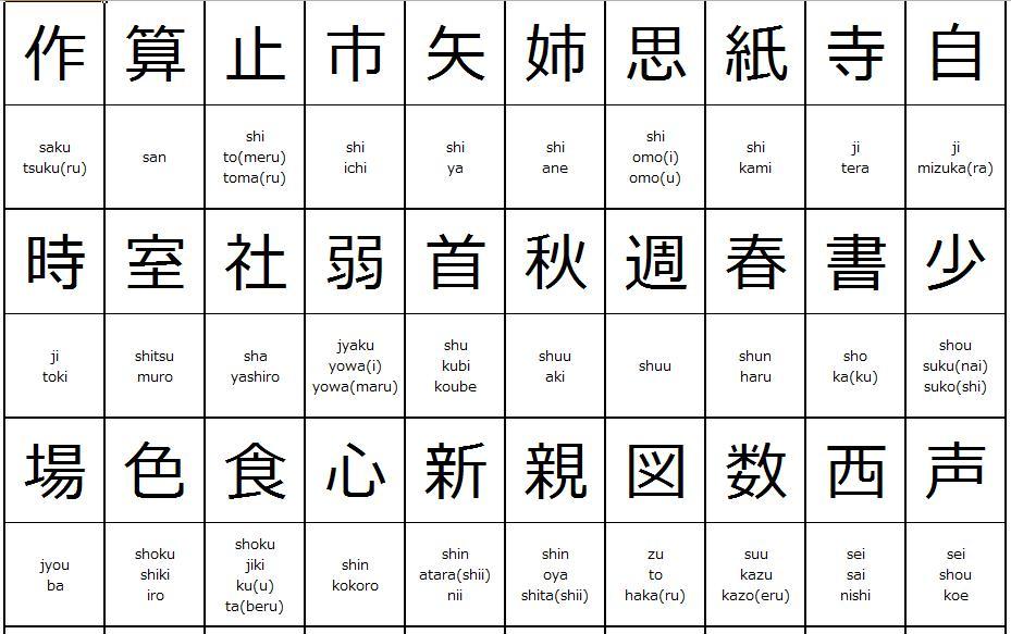 1st Grade Japanese Worksheet 4