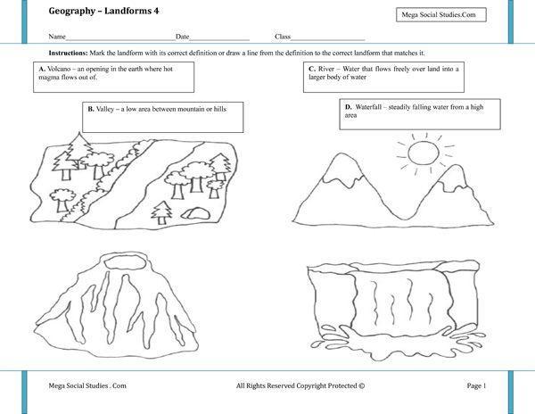1st Grade Landforms Worksheets 6
