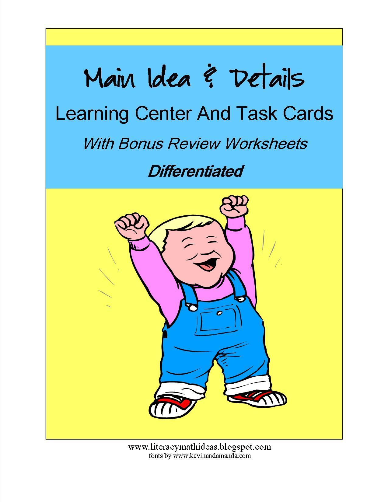 1st Grade Main Idea Worksheets Grade 1