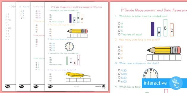 1st Grade Measurement Worksheets Free