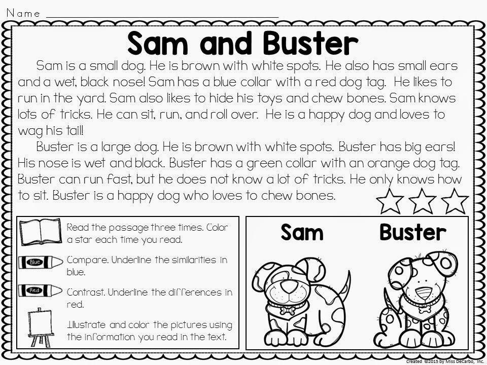 1st Grade Reading Comprehension Worksheets Main Idea
