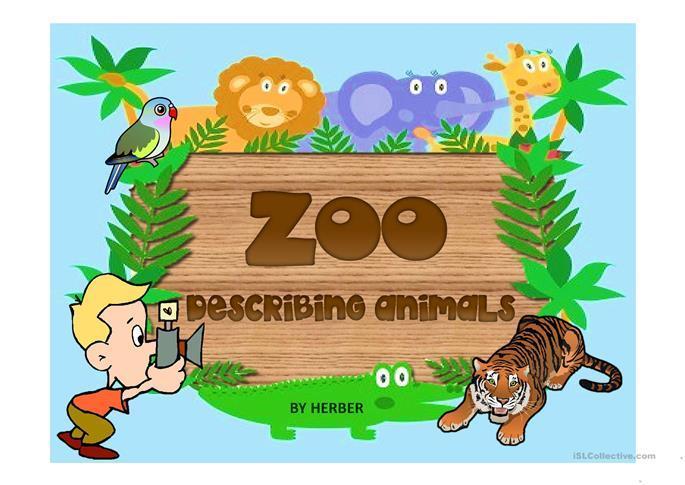 English Worksheets Zoo Animals 8