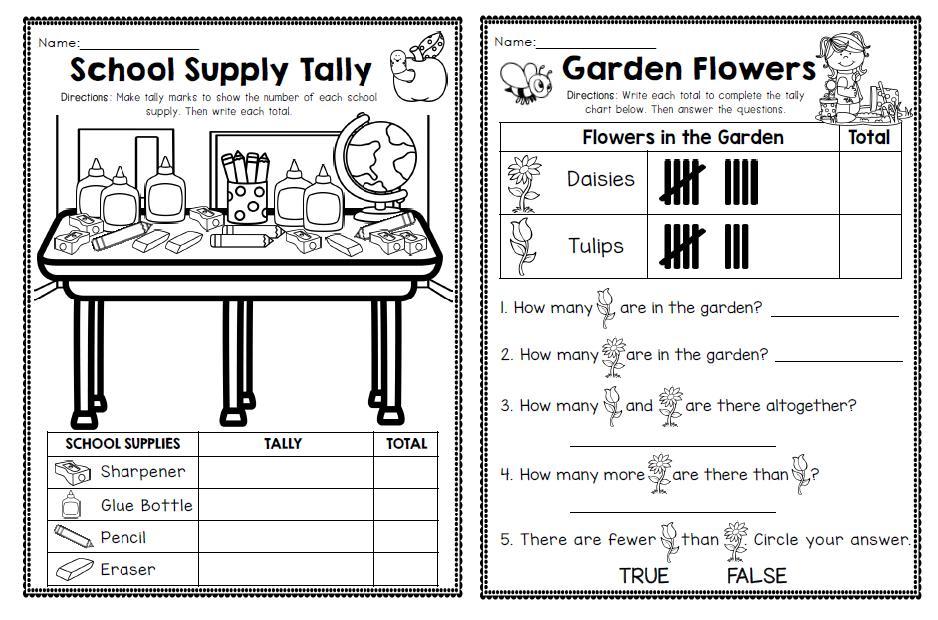 First Grade Level Math Worksheets
