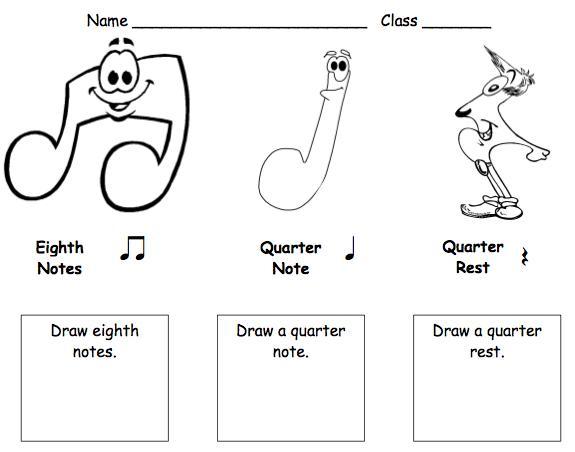 Free 1st Grade Music Worksheets