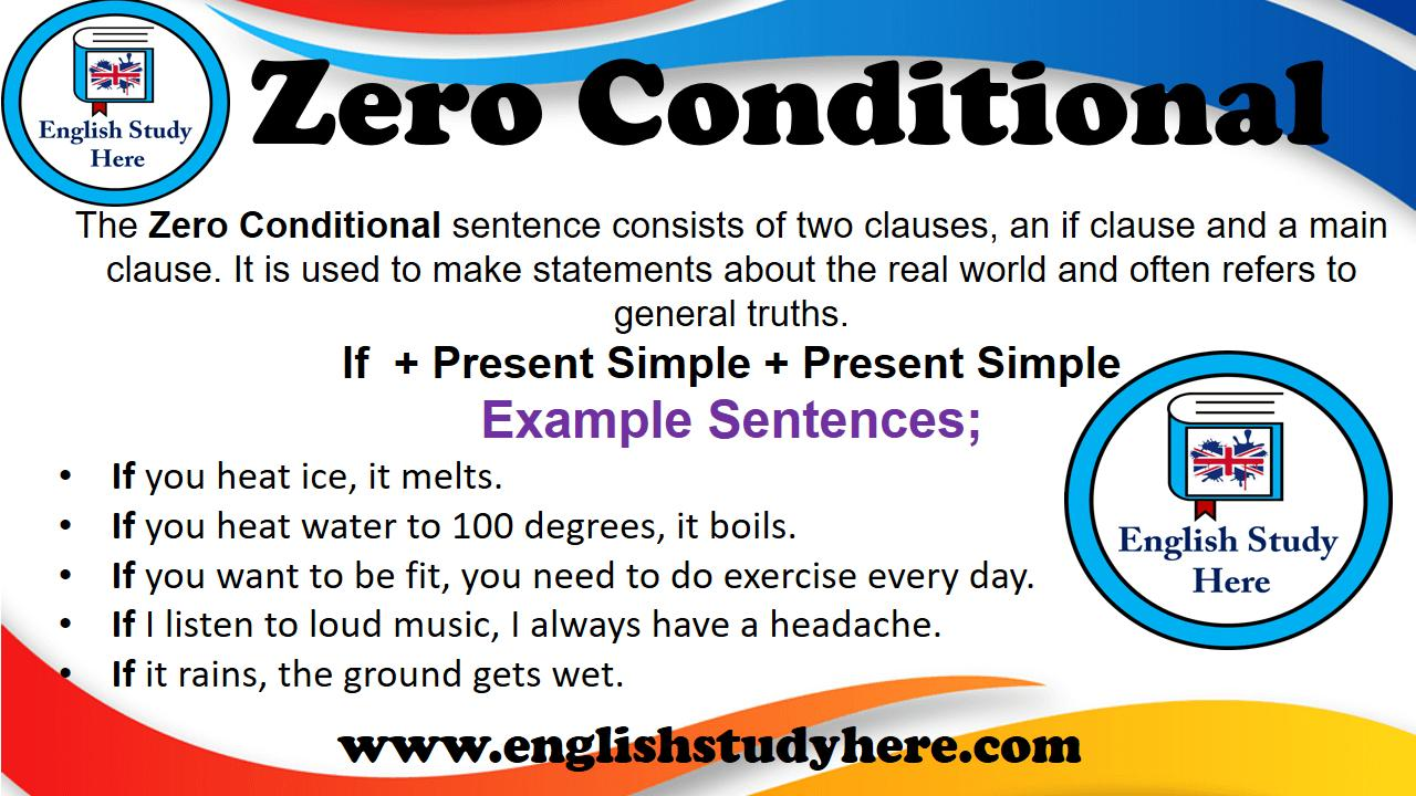 Perfect English Grammar Zero And First Conditional Exercises
