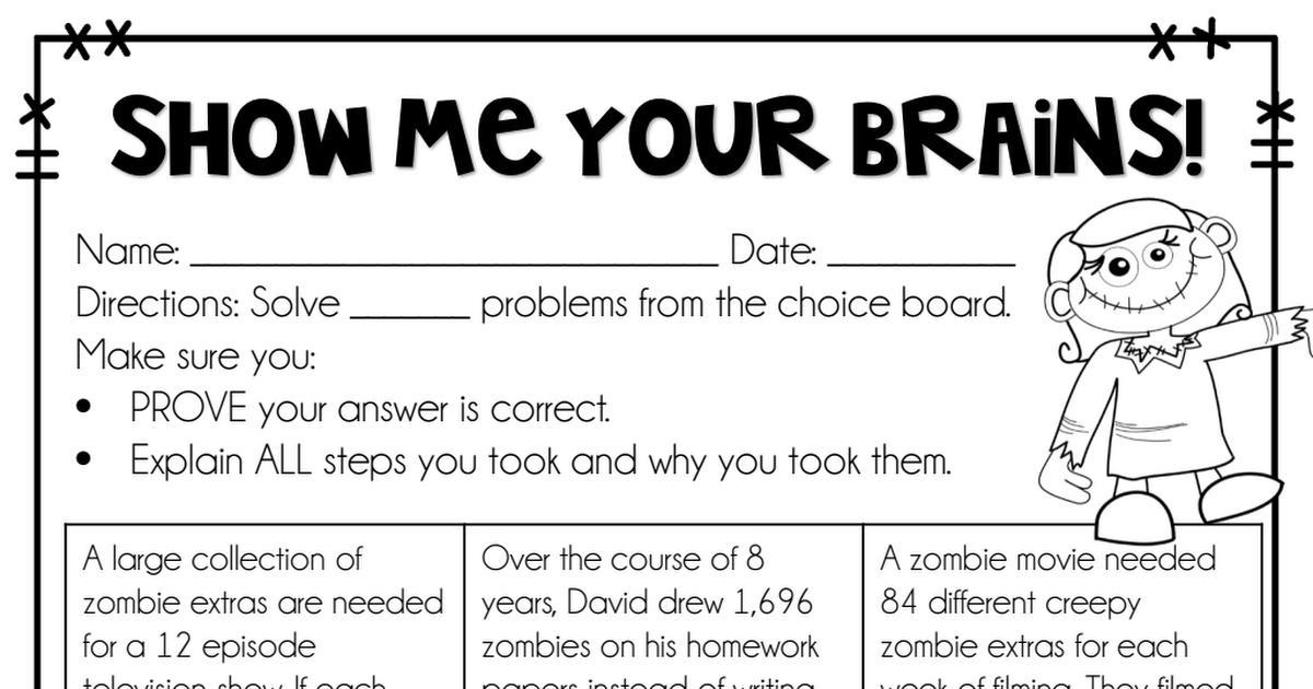 Zombie English Worksheets 6