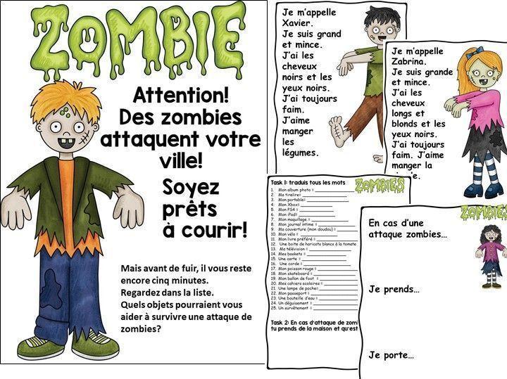 Zombie English Worksheets 8