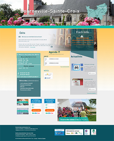 création du site internet de la mairie de bourneville sainte croix