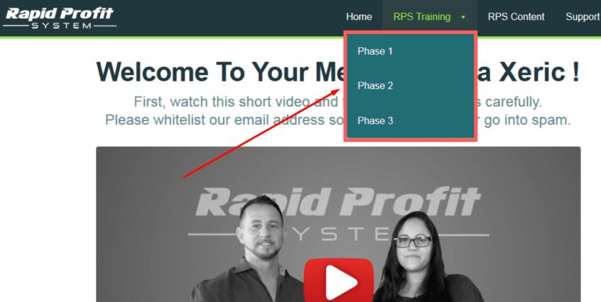 rapid profit system inside look
