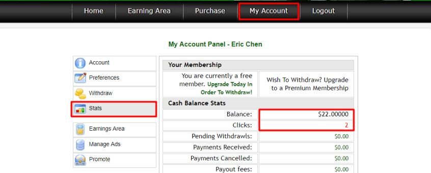 seven dollar clicks earnings