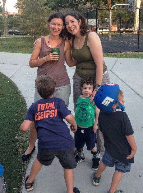 My first best friend ever and her two boys, showing off their tushies, live in Philly!