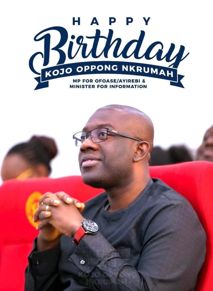 Information Minister Kojo Opppng Nkrumah celebrates 38th birthday