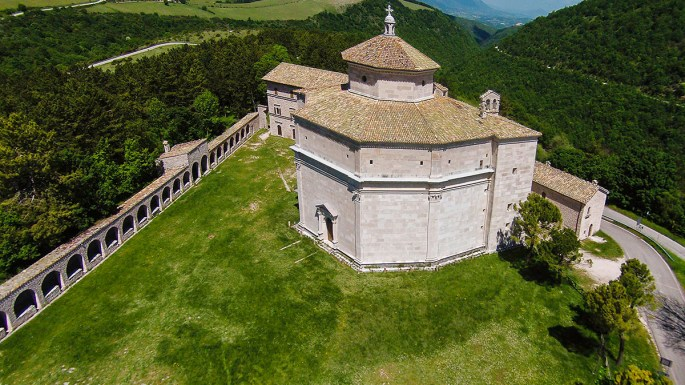 Abbey Macereto, Visso, Marche, Italy, Europe