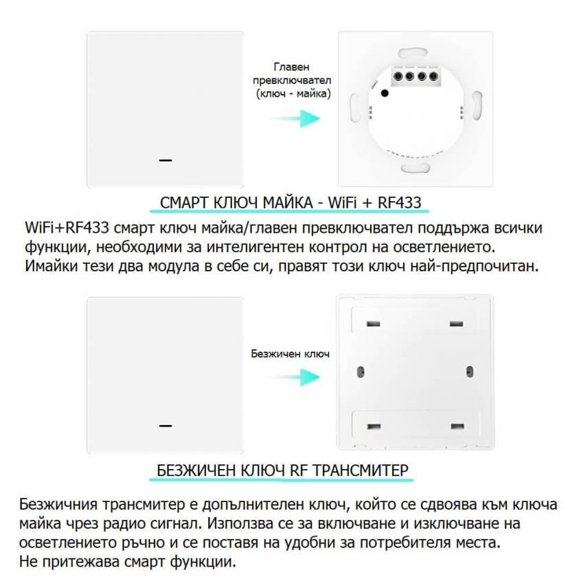 WiFi механичен ключ майка и безжичен