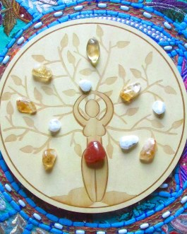 Crystal Grid Plate, Goddess, Tree of Life