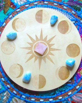 Crystal Grid Plate, Moon Phases