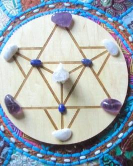 Crystal Grid Plate, Star Tetrahedron, Merkabah