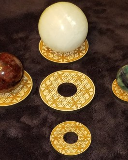 Gemstone Sphere Holder, Flower of Life