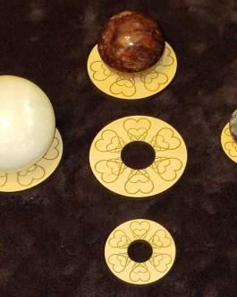 Gemstone Sphere Holder, Hearts