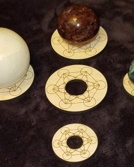 Gemstone Sphere Holder, Metatron's Cube, Merkabah
