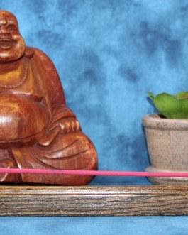 Incense Holder, Bocote wood, Curved design