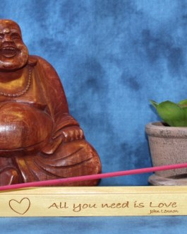 "Incense Holder Engraved with ""All You Need Is Love"" by John Lennon"