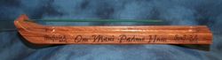"Incense Holder Engraved with ""Om Mani Padme Hum"""