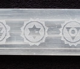Selenite Wands, Engraved