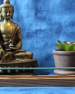Incense Holder, Zebra wood, Curved design