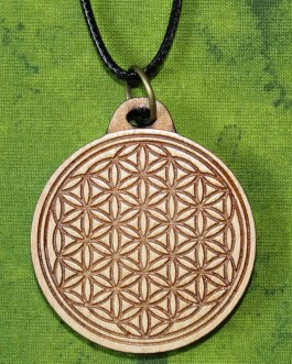 Wooden Pendant, Flower of Life