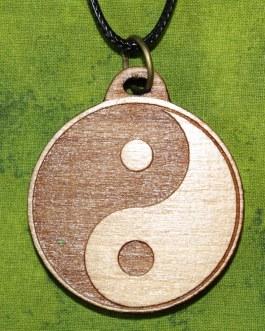 Wooden Pendant, Ying Yang