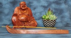 Incense Holder, Yucatan Rosewood, Curved design