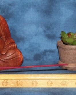 Incense Holder Engraved with Chakra Symbols