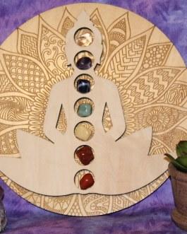 Buddha Meditation Figure Chakra Divination Board