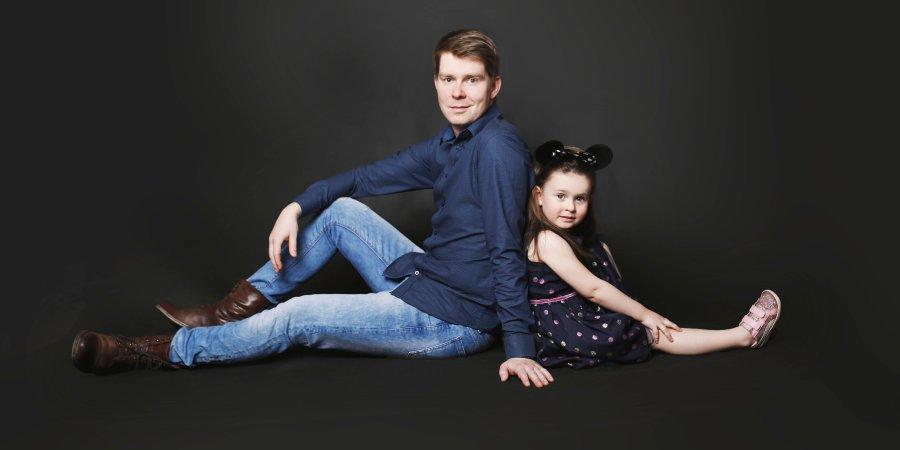 Damian Giętkowski z córką