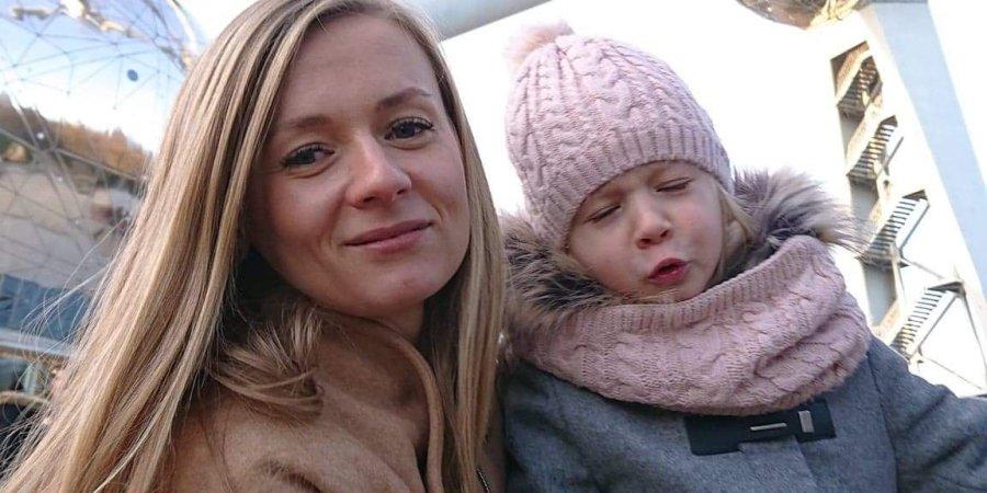 Małgorzata Bykowska z córką, fot. archiwum prywatne
