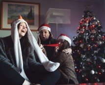 """My name is Gemma, I am 18 years old and I am from Spain. My fabolous mum bought those silly hats just to take a funny picture and wish a merry christmas to everyone, she was so excited! This is the picture that my family and I took these past Christmas."""