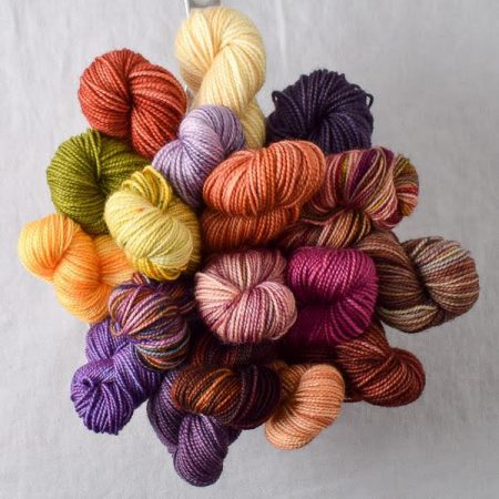 A bouquet of mini skeins of yarn