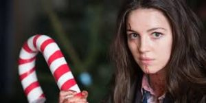 Anna and her candy cane weapon