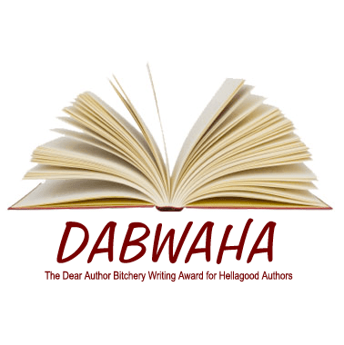 DABWAHA - an open book with the word DABWAHA below it and yes I made that word up because reasons