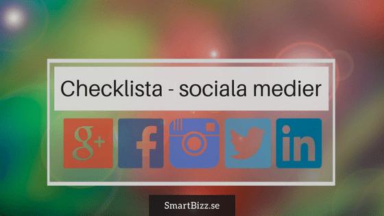 checklista sociala medier