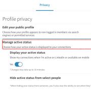 LinkedIn active status